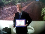 Cavaliere Benanti with his special Wine Enthusiast Top 100 award certificate.